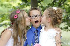 creekside kisses at The Little Log Wedding Chapel in Niagara