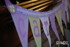 pennant banner perfect for a birdy baby shower
