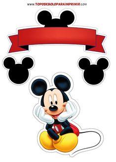 Bolo Mickey Baby, Bolo Do Mickey Mouse, Mickey Mouse Cake Topper, Fiesta Mickey Mouse, Mickey Y Minnie, Mickey Cakes, Mickey Mouse Classroom, Mickey Mouse Clubhouse Birthday, Mickey Mouse Birthday