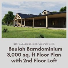 $595. Beulah 3 Bed – 3 Bath – 3,000 sq. ft.– with 2nd Floor LoftWe sell semi-custom Barndominium floor plans and provide helpful tips to design and build your home whether it is DIY or you are paying a company. #architecture #barndominiums #home #modernbarn #barnhomefloorplans #beautifulbarn #homefloorplan #barnhomedesign #housedesign #barndominiumfloorplans #floorplan #dreambarn #barnhouse #barndominiumliving #interiordesign #barndominiumdesign #office #garage #2ndfloor #loft #secondfloor