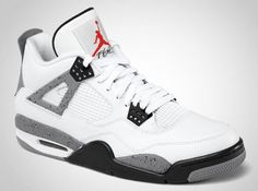 Air Jordan Retro 4 White Cement.