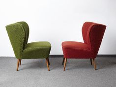 RETRO 50s 60s ARMCHAIRS COCKTAIL CHAIR PAIR VINTAGE MID CENTURY CLUB CHAIRS | eBay
