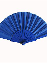 Royal Blue Silk Hand Fans (set of 6) – USD $ 7.99