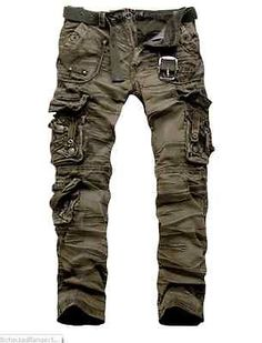 2012 New Military Vintage Camo Style Multi Pockets Cargo Pants | eBay
