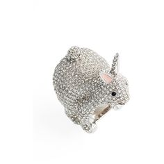 Women's Kate Spade New York Make Magic Rabbit Ring ($69) ❤ liked on Polyvore featuring jewelry, rings, black, rabbit jewelry, kate spade ring, kate spade jewelry, snap ring and snap button jewelry