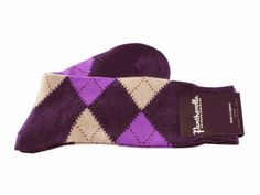 Purple Argyle Cashmere Pantherella Socks