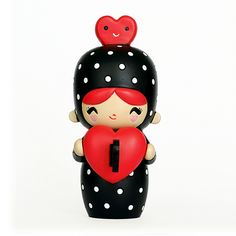Dottie <P>Momiji are handpainted resin message dolls. Turn them upside down...inside every one there's a tiny folded card for your own secret message. </P><P>Spread the love.</P><P>All dolls are approx 8cm (3in) tall.</P>