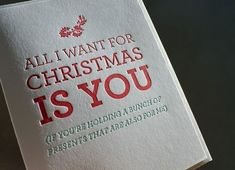 All I want for #Christmas is you! #presents #quotes #pinspiration #holiday