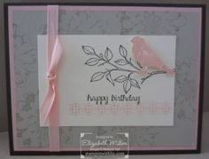 Birthday card made with Stampin Up And Many More and Choose Happiness stamp sets