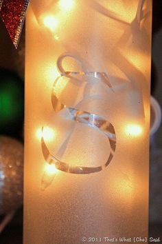 Today I am thrilled to show you how to make these cute numbers! Frosted Luminary Wine Bottles!! Personalization is unlimited!  These make great hostess g