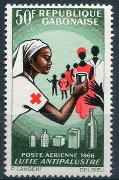 Francobolli . Lotta contro la malaria - Malaria on Stamps - Gabon 1966