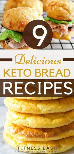Keto flat head bread or keto bread recipes for sliders or sandwiches. Top 9 keto bread recipes which are easy to make. Make your keto breakfasts more delicious with these keto breads.