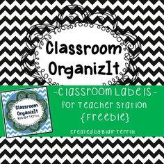 ba7563030 Classroom Labels Black  Chevron