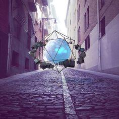 [finaly] - Gravity Street - #cinema4d #rendering #3D #visual #spherical #street #instaart #compositing #maxon #art #visual #designs #streetphotography #rsa_graphics
