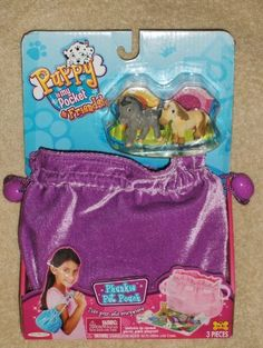 Puppy In My Pocket & Friends Phunkie Pet Pouch Charlotte/Olivia by Jakks. $19.95. Horses Olivia and Charlotte