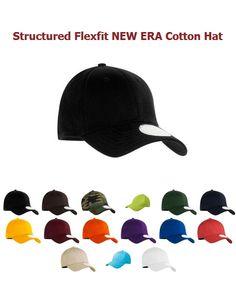 d98c17bfc11 Structured Flexfit NEW ERA Cotton Hat http   www.capstoyou.com