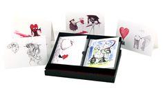 Valentine's Day cards illustrated by Tim Burton <3