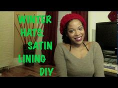▶ Easy Winter Hat Lining DIY to Prevent Hair Dryness for Naturals - YouTube--using snaps