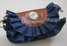 Wholesale Denim Bag - Buy Denim Bag Skirts Packet Jeans Handbag Flounced Denim Bag Lace Packet Totes, $23.86 | DHgate