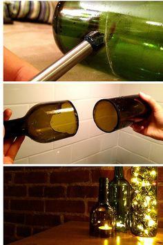 How to cut wine bottles to make your own DIY lanterns