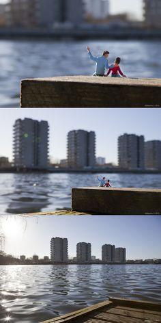 """""""One Day Son"""" - By Slinkachu, Southmere Lake, London"""