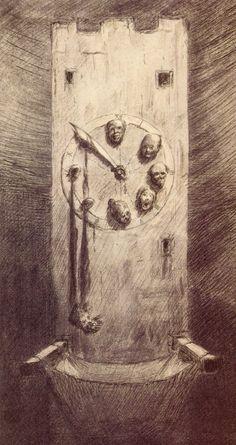Perhaps that is precisely what life is: a dream and an anxiety - Kubin Alfred Kubin, c. 1950 Alfred Kubin was born in. Bizarre Art, Creepy Art, Weird Art, Dark Fantasy Art, Arte Horror, Horror Art, Art Macabre, Art Sinistre, Alfred Kubin