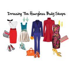 Hourglass: this is considered to be the most desirable of body-shapes. The shoulders and hips are aligned and the waist is noticeably smaller. Clothing is often easy to fit this shape. If weight gain, the weight is often distributed on the upper thighs, bottom and hips.