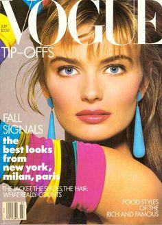 1987 Vogue Magazine Paulina Porizkova Romeo Gigli Daryl Hannah Baryshnikov 80s #Vogue