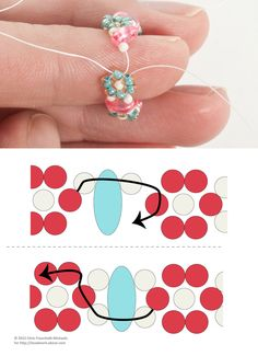 Twin Bead Daisy Chain: Optional: Join the Ends of Your Band to Make a Finger Ring  ~ Seed Bead Tutorials