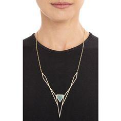 Monique Péan Diamond & Spectrolite Pendant Necklace at Barneys.com