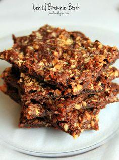 "Lentil Brownie Bark | joandsue.blogspot.com | Entry into the ""Baked Goods"" category"