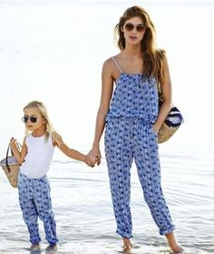 "Kampania H&M ""Ty i ja"" lato 2015 Mother Daughter Fashion, Mother Daughter Matching Outfits, Mom Daughter, Matching Family Outfits, Mom And Baby Outfits, Little Girl Outfits, Kids Outfits, Mode Cool, Kind Mode"