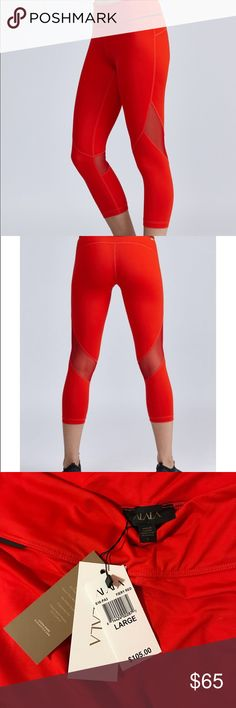 NEW Captain Crop Tights - Fiery Red Brand New Alala Captain Crop Tights Never Worn Tags Still On Only selling because ordered the wrong size Alala Pants Leggings