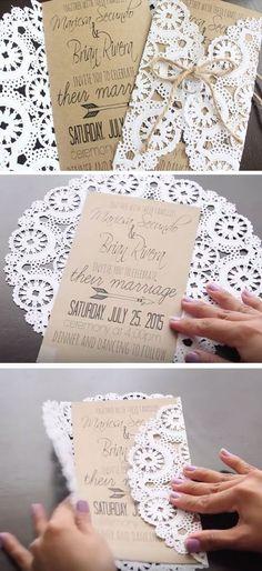 Wedding invitations you can make yourself! #weddinginvitation