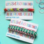 Let's Band Together and be Friends Forever - Rainbow Loom Valentine
