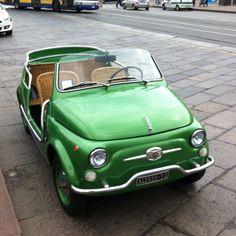 Fiat 500 green pea...