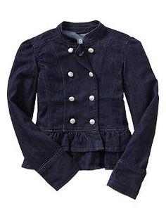 Denim peplum jacket | Gap
