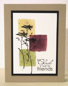 Love the torn edge sponged squares - created by taping together four pieces of torn scrap card