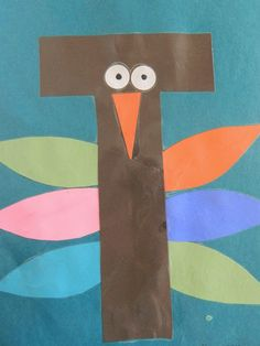 Preschool Letter T-cute for B to do on Thanksgiving day
