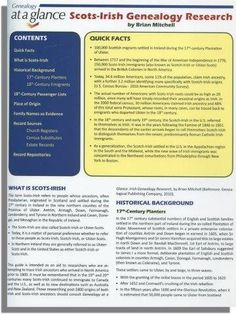 Scots-Irish Genealogy Research at a Glance - Brian Mitchell | ShopFamilyTree