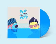 Pool Party Vinyl by André Britz, via Behance album art design