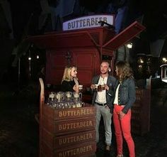 Tom Felton at the Harry Potter world in L.A.