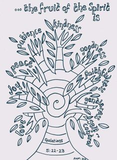 Flame: Creative Children's Ministry: Fruit of the Spirit Reflective Colouring Page (Printable)