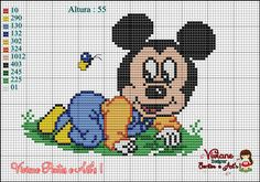 Minnie Mouse x-stitch Hama Disney, Disney Quilt, Mickey Mouse E Amigos, Mickey Mouse And Friends, Minnie Mouse, Disney Stitch, Cross Stitching, Cross Stitch Embroidery, Disney Cross Stitch Patterns