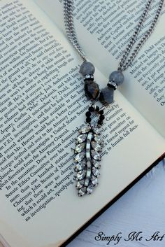 Vintage RhinestoneOnyx and Gemstone One of a Kind by simplymeart, $59.00