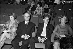 Louis de Funès avec sa femme Jeanne et leur fils Olivier en 1968.