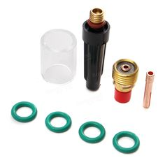 8Pcs 3/32inch TIG Welding Torch Gas Lens Pyrex Cup Kit for Tig WP-9/20/25 Series