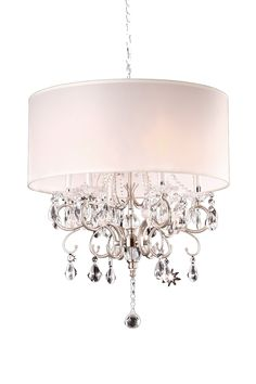 ORE Furniture Crystal 6 Light Chandelier