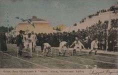 In the starting blocks of the 100m in #Athens, in April 1896.