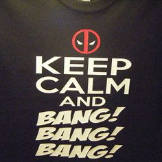 Deadpool Keep Calm T-Shirt. 100% preshrunk cotton. Please visit www.alltru2u.com for pricing and purchase.